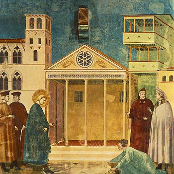 350px-Giotto_-_Legend_of_St_Francis_-_-01-_-_Homage_of_a_Simple_Man