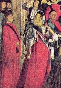 compagnon de la calza dans le patriarche du grado exorcisant un possédé la fugitive