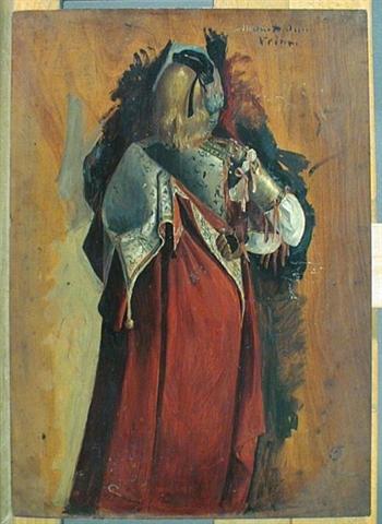 copie par fortuny d'après carpaccio il ciclo di sant orsola le miracle dela croix au pont du rialto