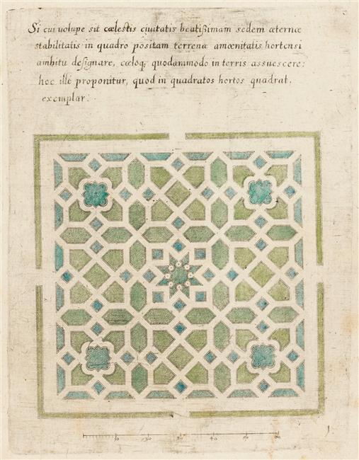05-512804 Modèle de parterre de jardin avec étoile ecouen musée national de la renaissance