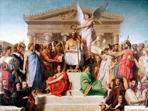 Jean_Auguste_Dominique_Ingres,_Apotheosis_of_Homer,_1827
